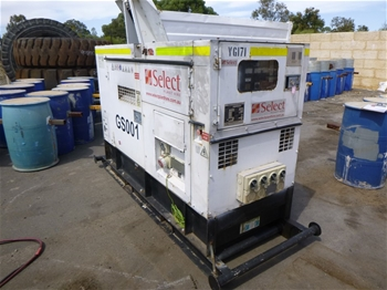 50KVA Diesel Powered Generator with Sound Deadening Enclosure