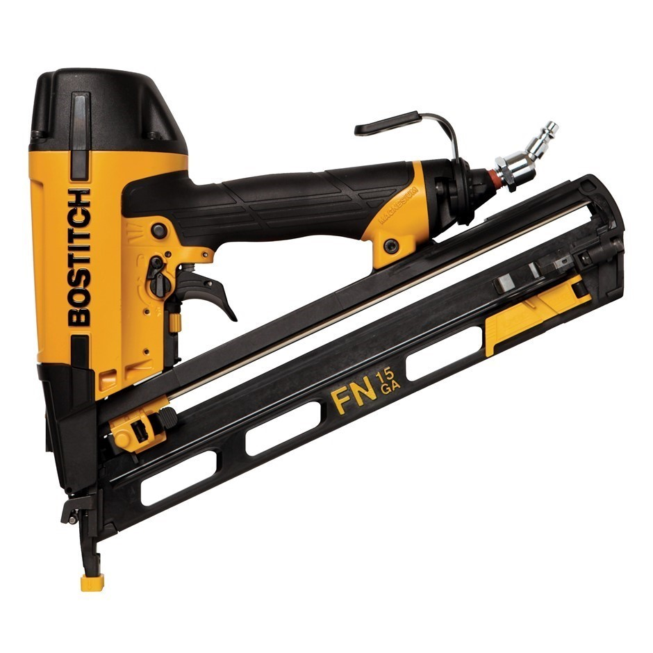 BOSTITCH 32-63mm Angled Finish Nail Gun Kit 15G. Buyers Note - Discount Fre