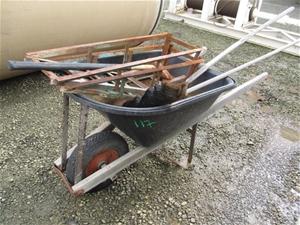 1x Plastic Tub Wheel Barrow