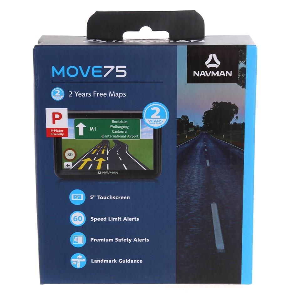 NAVMAN MOVE75 Navigation System with Mounting Bracket Car Adaptor & Navdesk
