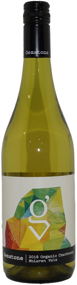 Gemstone Organic Chardonnay 2018 (6x 750mL), McLaren Vale. Screwcap.