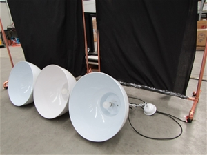 Qty 3 x Industrial Ceiling Lamps