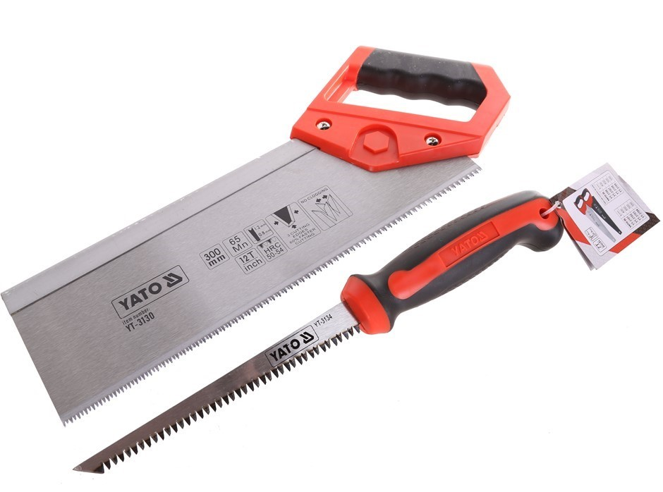 2 x YATO Back Saw & Compass Saws 150mm & 300mm. Buyers Note - Discount Frei