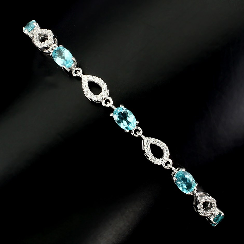 Genuine Apatite Tennis Bracelet.