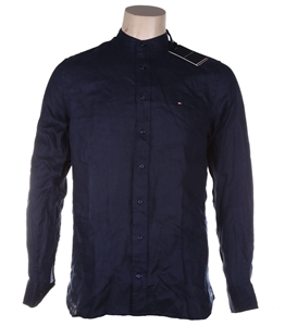 TOMMY HILFIGER Men`s AU Solid Linen Shir