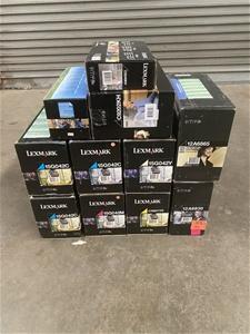 Box of 11 Lexmark Print Toner Cartridges