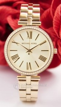 New Ladies Gold Plated Michael Kors Couture Ny Classic Luxury Watch