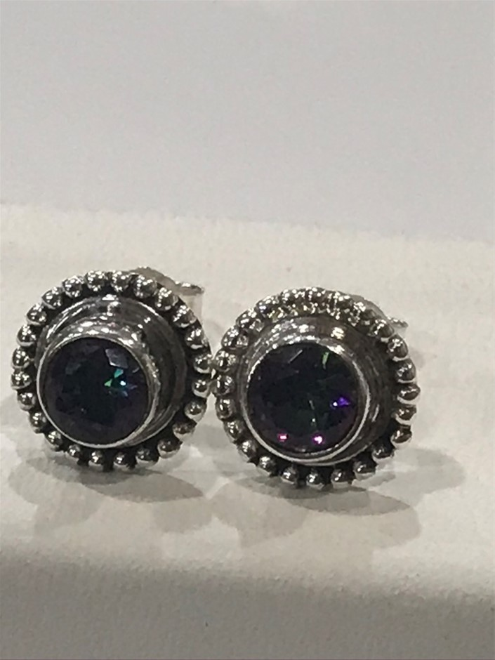 Brilliant Handcrafted Mystic Topaz Earrings