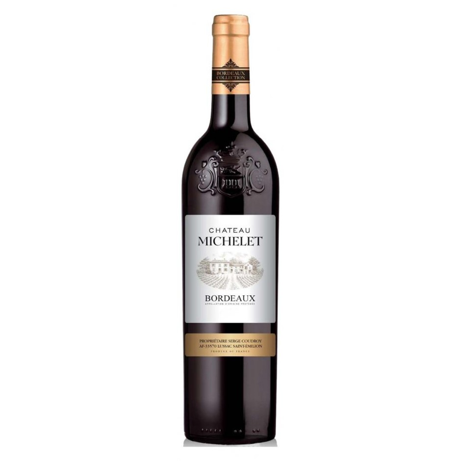 Chateau Michelet Bordeaux 2018 (6x 750mL), France.