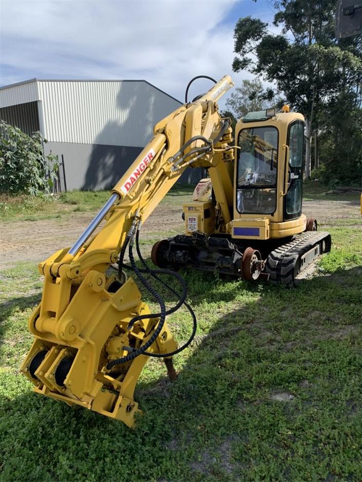 Komatsu Hi Rail PC50 Road Rail Excavator