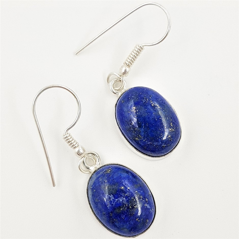 Sterling Silver & Gemstone Earrings x 2 Pairs.