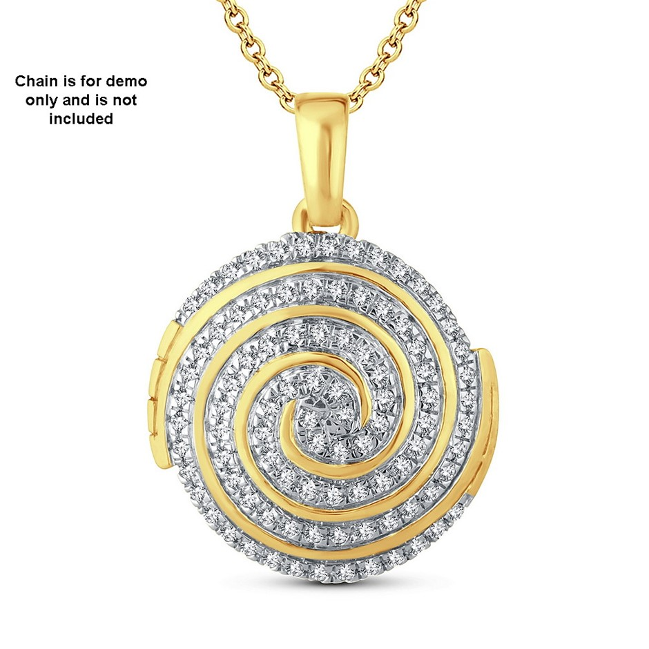 9ct Yellow Gold, 0.20ct Diamond Pendant