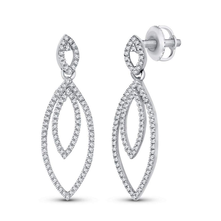 9ct White Gold, 0.24ct Diamond Earring
