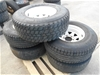 Full Set of 5x 6 Stud Sunraysia Wheel Rims for Toyota with tyres 31X10.5R15