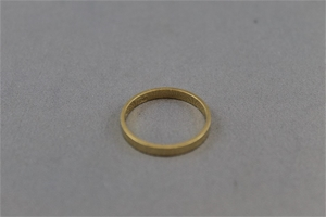 Stamped 18ct Yellow Gold Band Ring