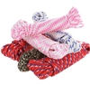 6 Hanks of 8M x Assorted Braided Ropes 6mm, Mixed Colours. Buyers Note - Di