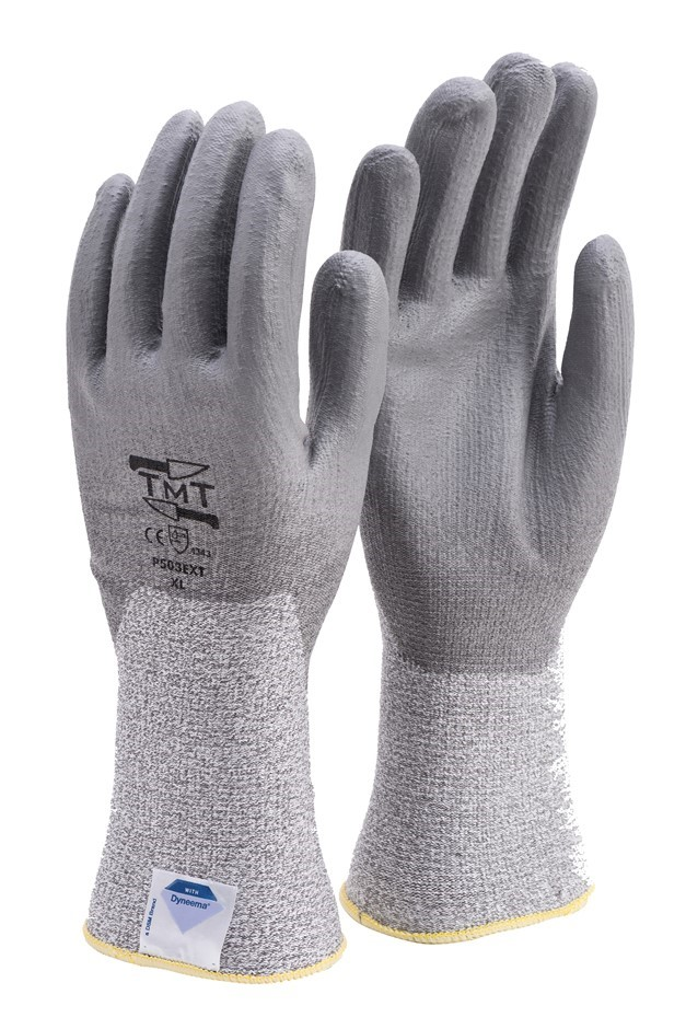 12 x Pairs Dyneema Knitted Gloves, Size M, with PU Anti-Slip Palm Coating,