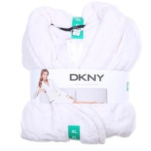 DKNY Women`s Short Plush Wrap Robe, Size