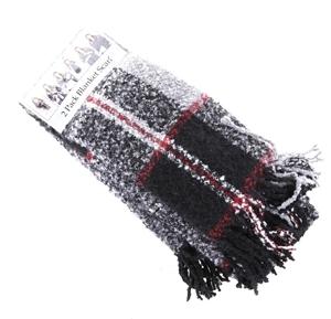 2 x EMANUEL GERALDO Blanket Scarf, Polye