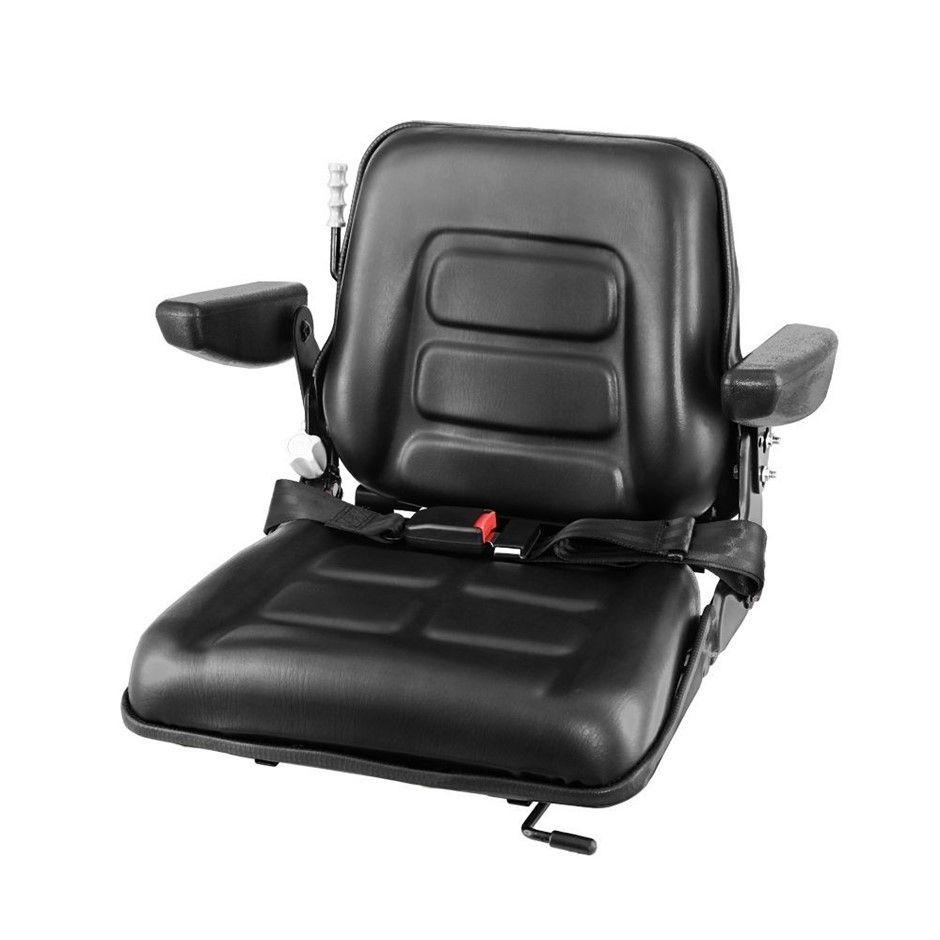Giantz Tractor Seat with Armrest Forklift Excavator Universal Suspension