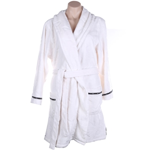 DKNY Women`s Short Plush Robe, Size XL,