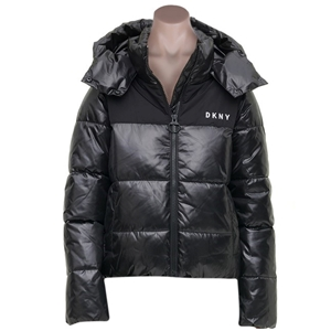 DKNY SPORT Women`s High Shine Puffer Jac