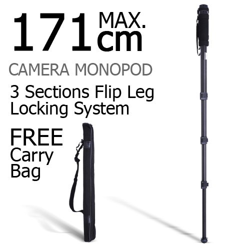 Weifeng Extendable Portable Camera Tripod - Black