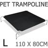 i.Pet Large Canvash Heavy Duty Pet Trampoline - Black
