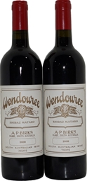 Wendouree Shiraz Mataro 2008 (2x 750mL), Clare Valley. Cork.