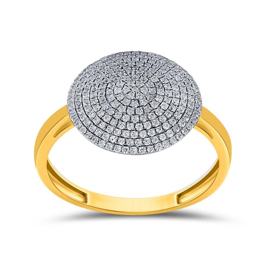 9ct Yellow Gold, 0.30ct Diamond Ring