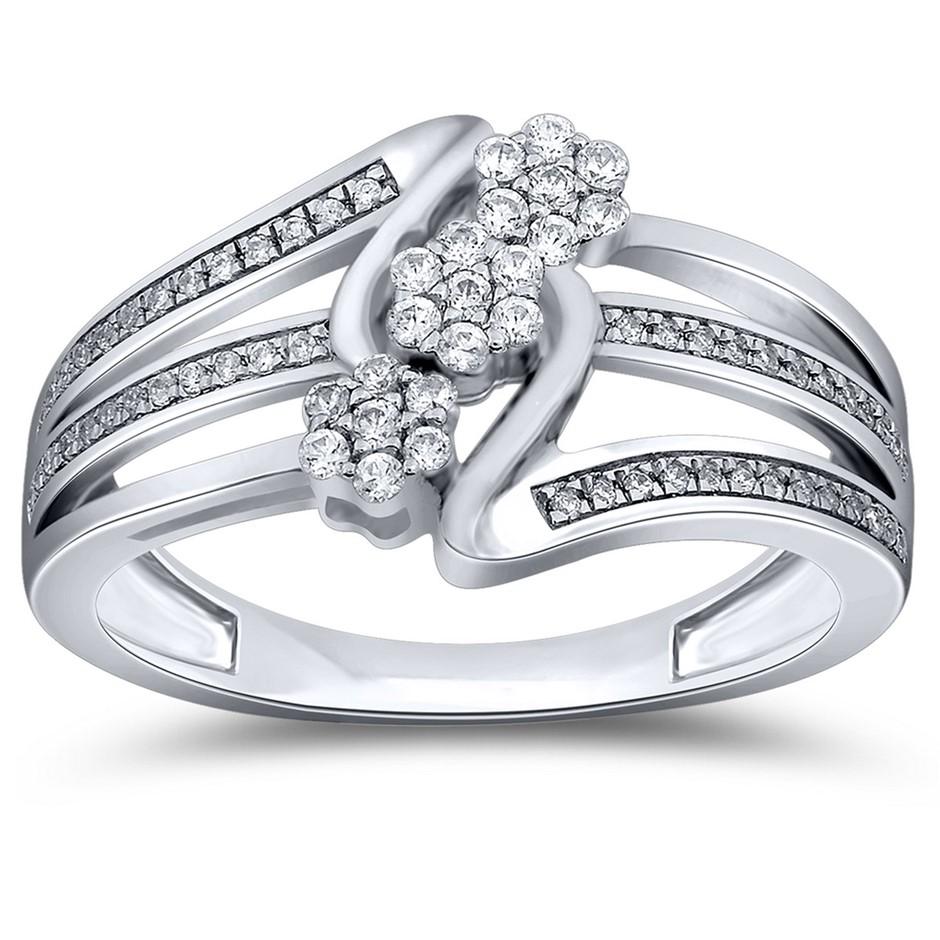9ct White Gold, 0.24ct Diamond Ring