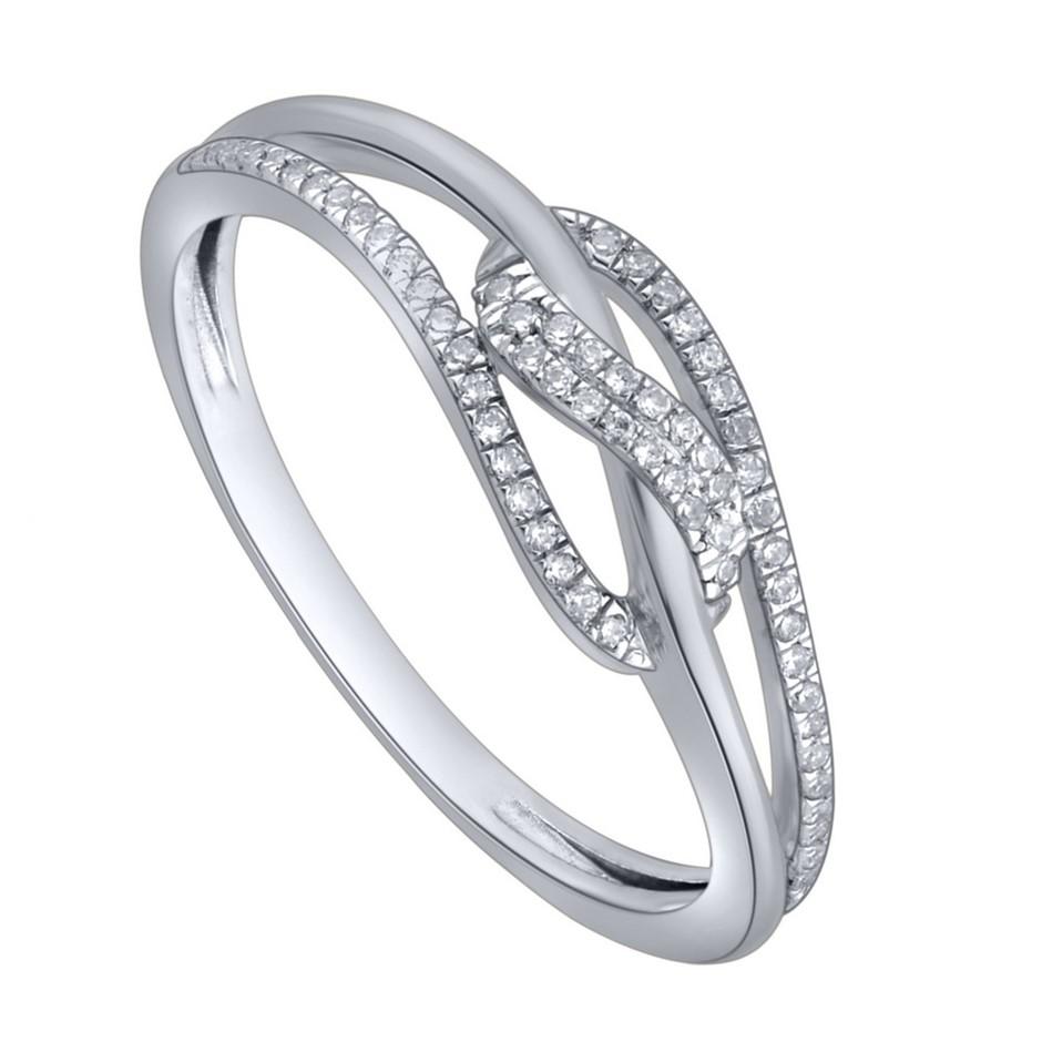 9ct White Gold, 0.08ct Diamond Ring