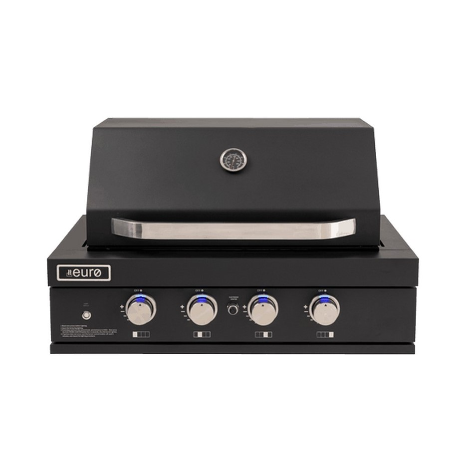 Euro 90cm Black Built in BBQ, Model: EAL900RBQL