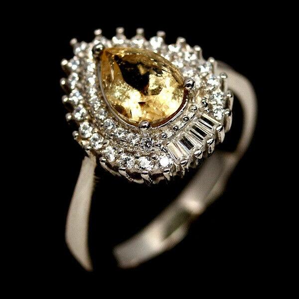 Striking Genuine Citrine Ring