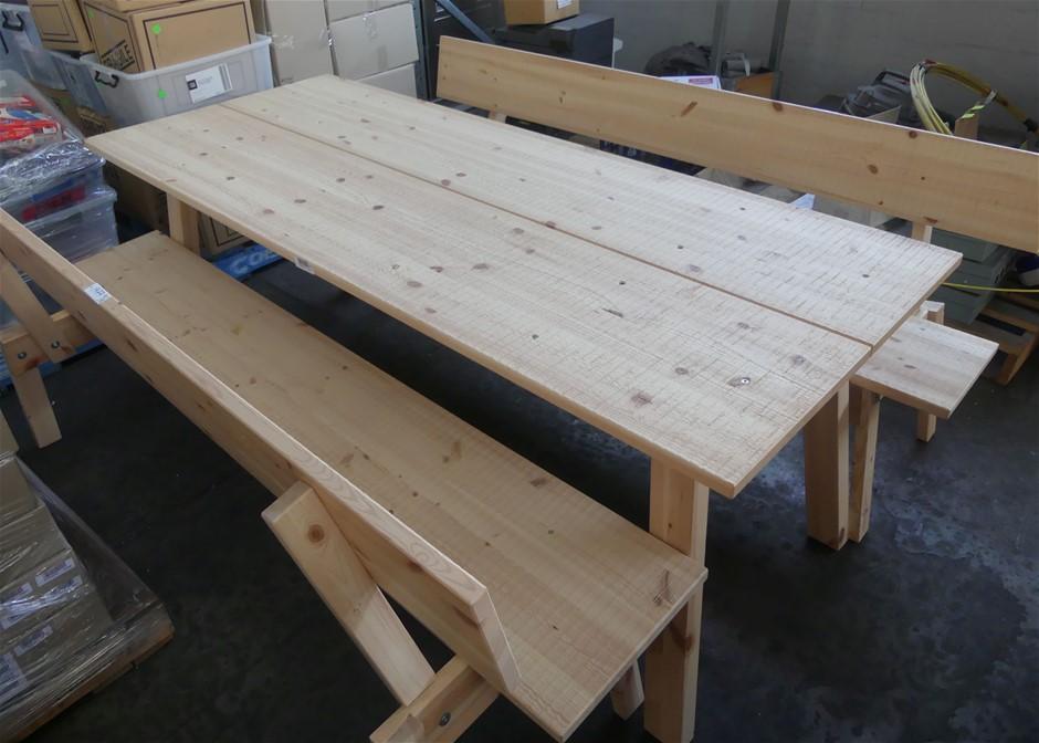 3 Piece Timber Outdoor Setting