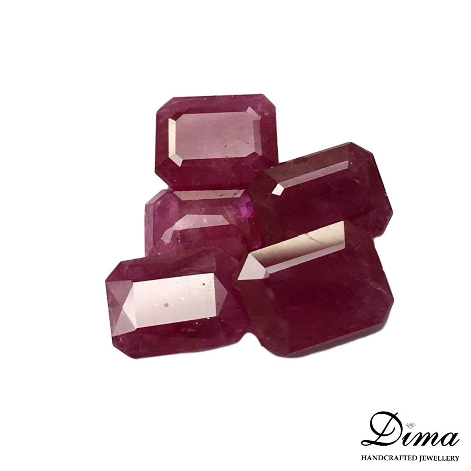Five Loose Ruby, 10.73ct in Total