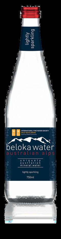 Beloka Lightly Sparkling Mineral Water (12 x 750mL) Australia