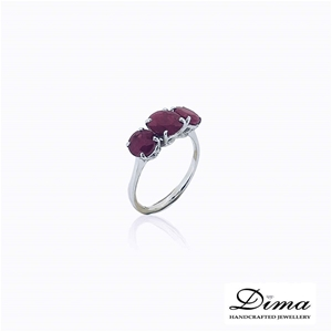18ct White Gold, 3.05ct Ruby Ring