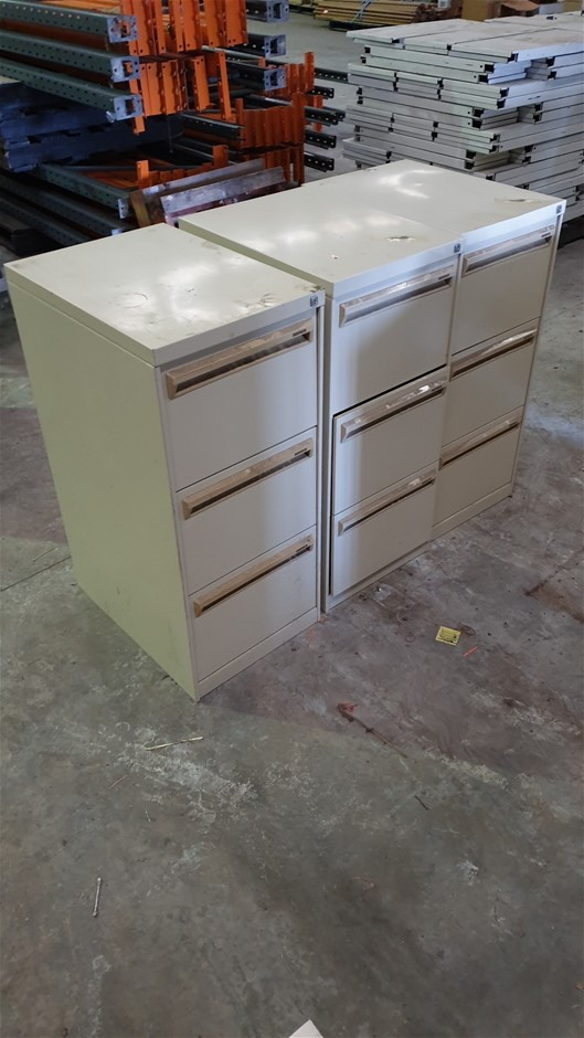 3x Office Filing Cabinets