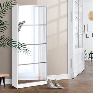 Artiss 60 Pairs Mirror Shoe Cabinet Rack