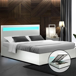 Artiss LED Bed Frame Double Size Gas Lif