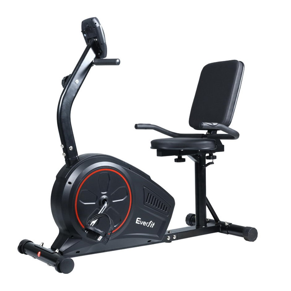 Everfit Magnetic Recumbent Exercise Bike Trainer Home Gym Equipment BK