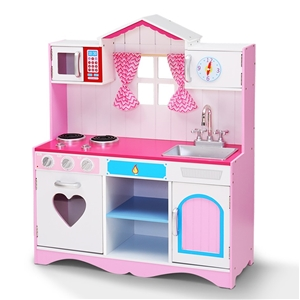 Keezi Kids Kitchen Set Pretend Play Food