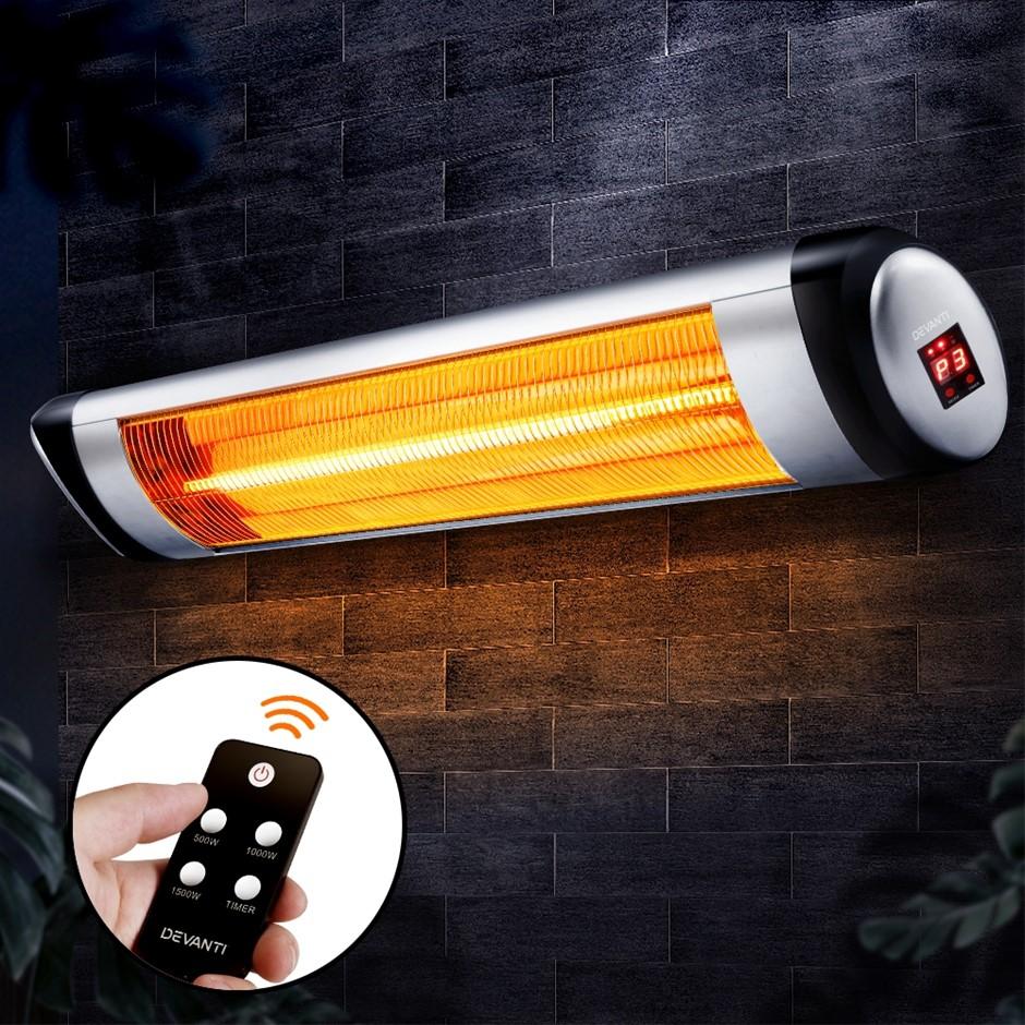 Devanti Electric Infrared Patio Heater Indoor Outdoor Heaters 1500W