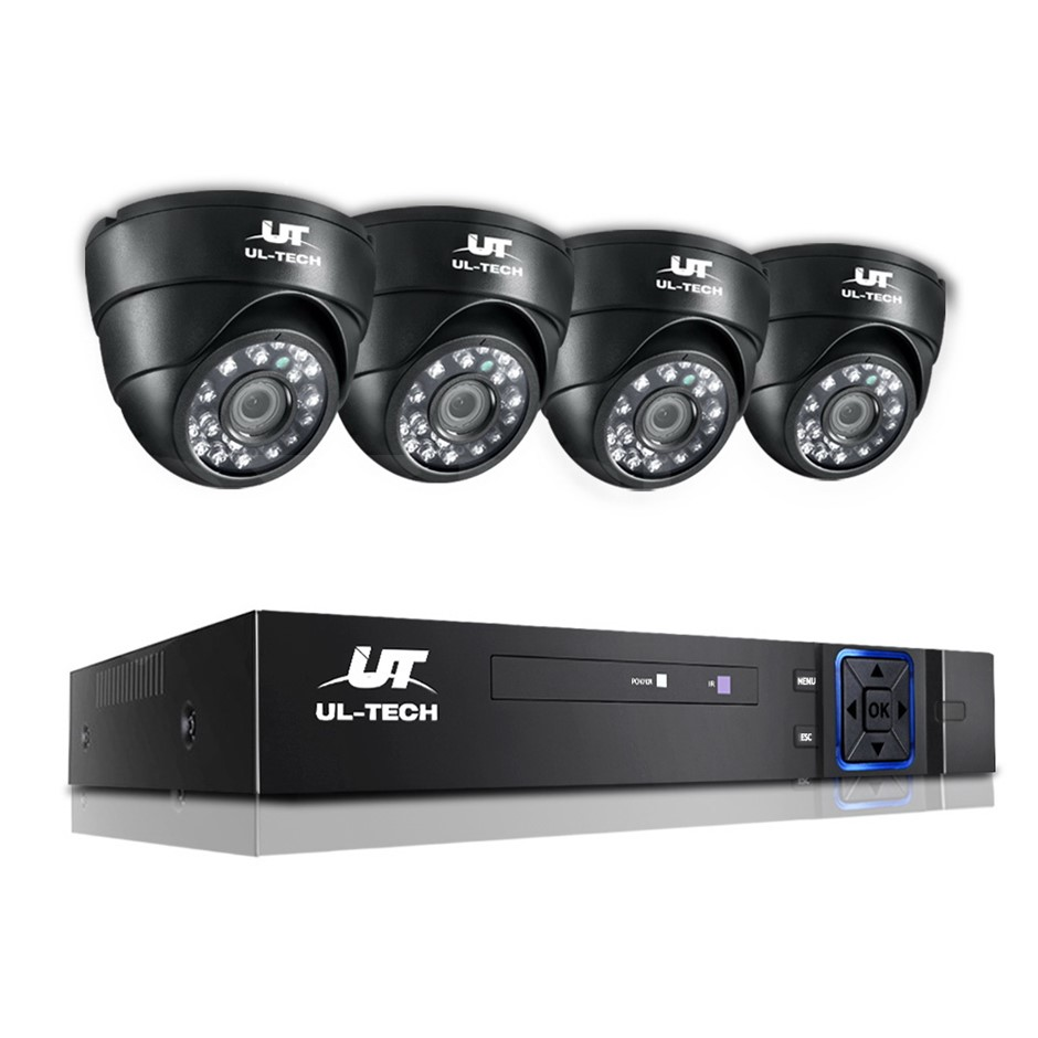 ULtech CCTV Camera Security System Home 8CH DVR 1080P IP Day Night 4