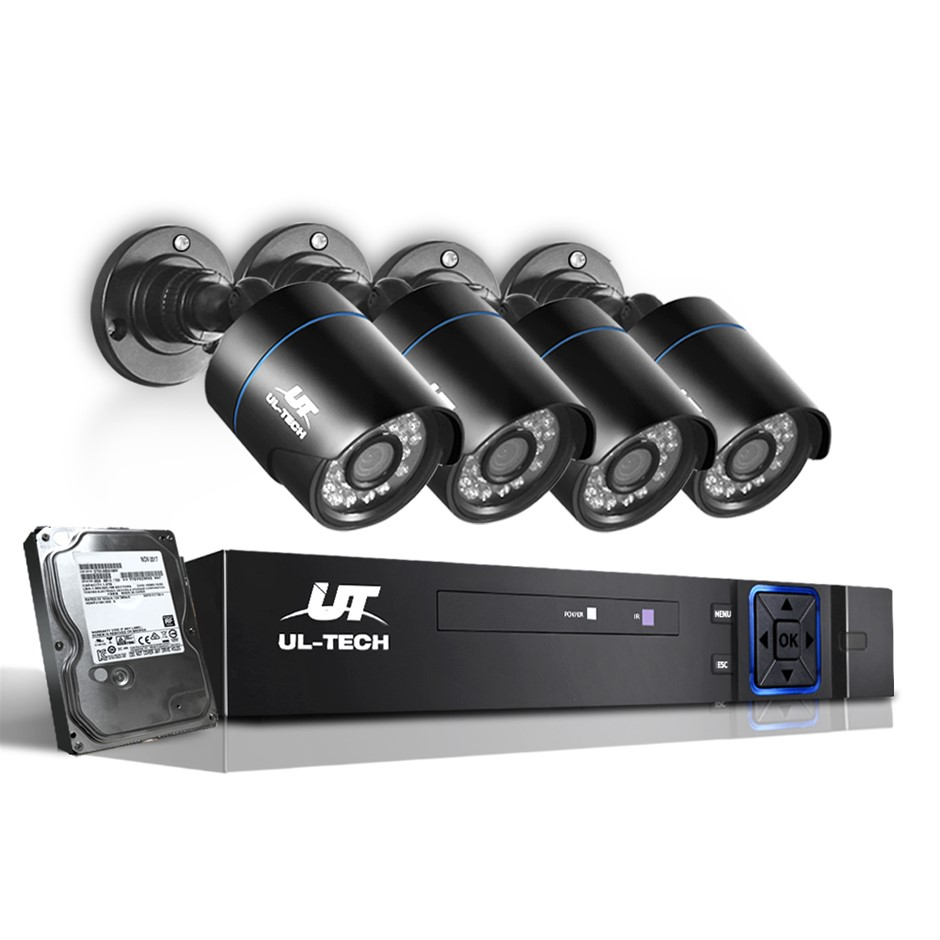 UL-tech Home CCTV Camera Security System 1080P DVR HD Night Vision 1TB