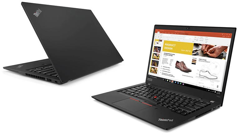 Lenovo ThinkPad T490s 14-inch Notebook, Black