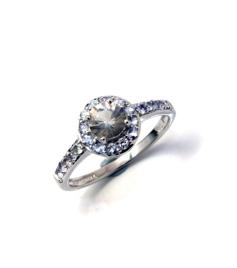 18ct White Gold, 0.95ct Tanzanite Ring