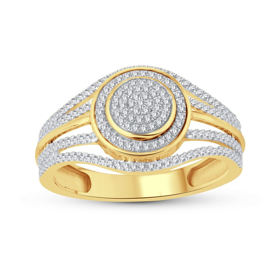 9ct Yellow Gold, 0.26ct Diamond Ring
