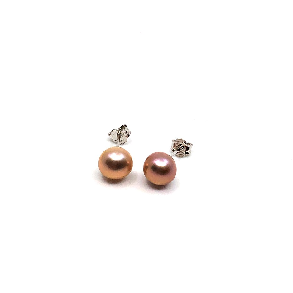 Elegant Freshwater Pearl Earrings Stud Set